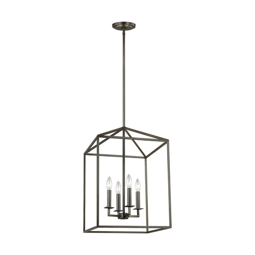 Uptown Bronze Four-Light LED Energy Star Pendant
