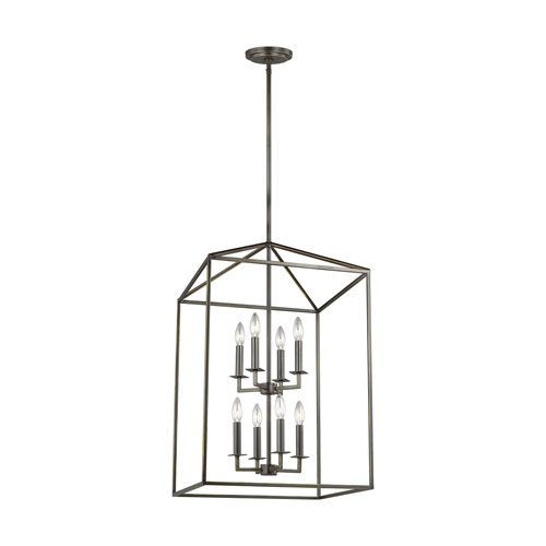 Uptown Bronze 31-Inch Eight-Light LED Energy Star Pendant