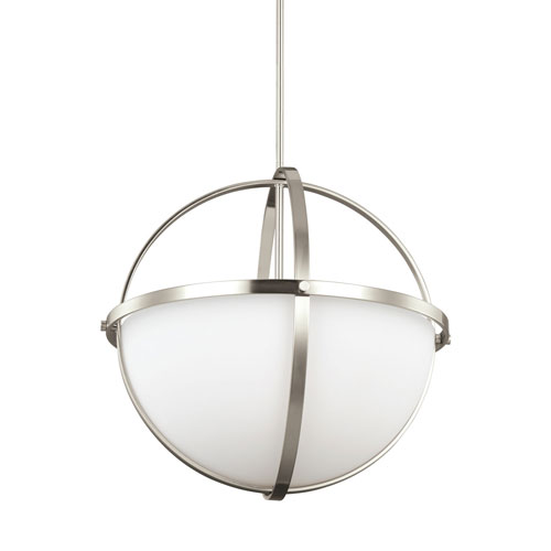 Nicollet Brushed Nickel Three-Light LED Pendant