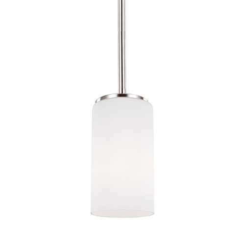 Nicollet Brushed Nickel Four-Inch One-Light Mini Pendant