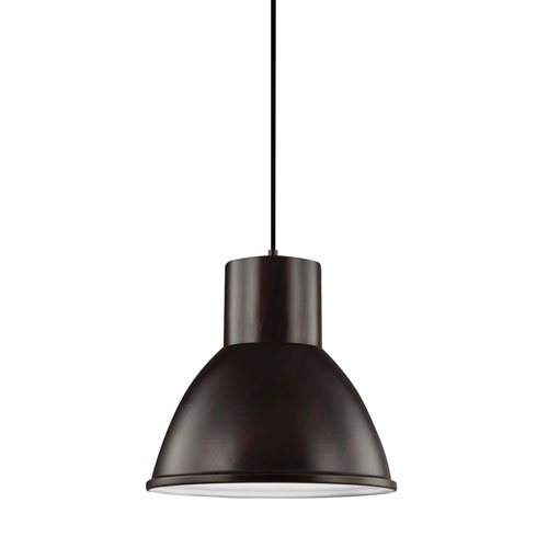 Uptown Black with Bronze Accents LED Energy Star Pendant