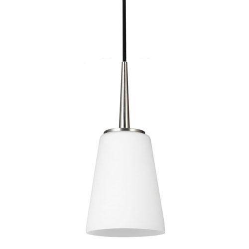 Nicollet Brushed Nickel One-Light Mini Pendant