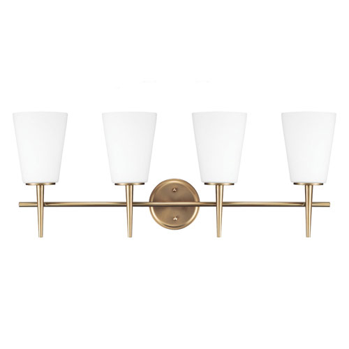 Nicollet Satin Bronze Four-Light Bath Vanity