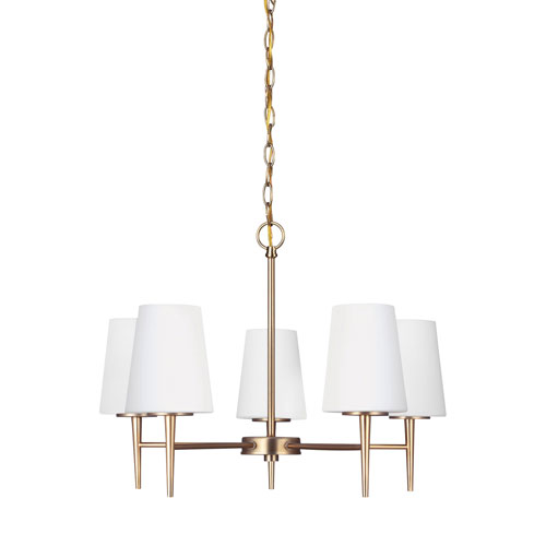 Nicollet Bronze Five-Light LED Chandelier
