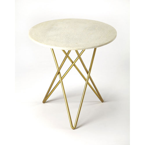 251 First Monroe White Marble Table