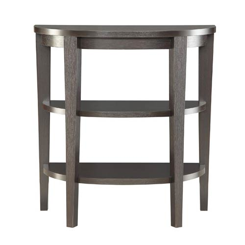Selby Espresso Three Shelf Console Table