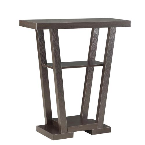 Selby Espresso V Shape Console Table