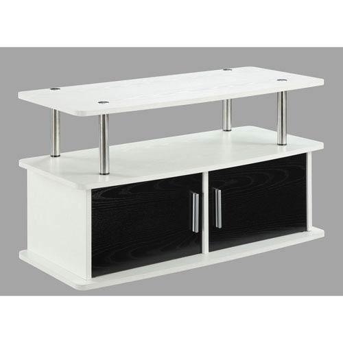 Nicollet White Two Door TV Stand