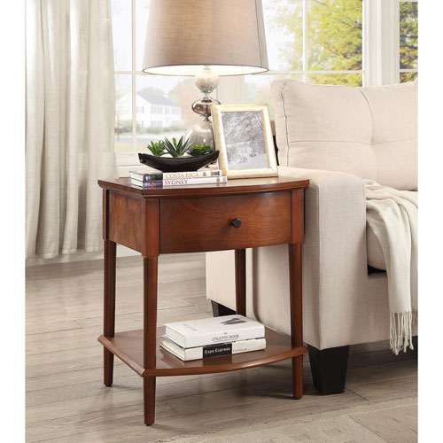 Evelyn Espresso End Table