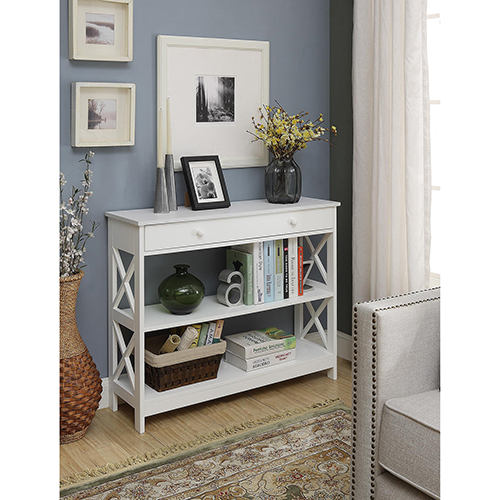 Selby White One Drawer Console Table