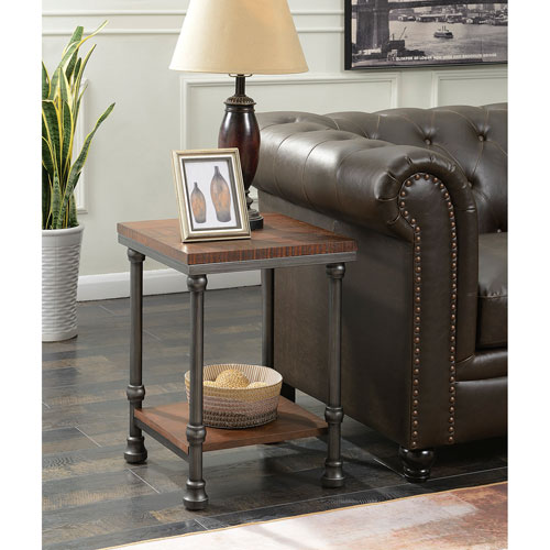 River Station Dark Oak End Table
