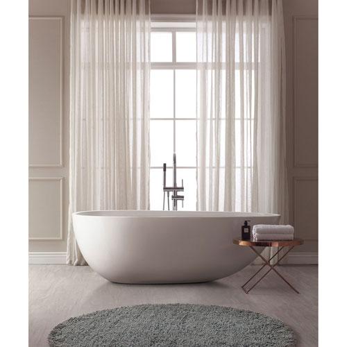 Nicollet White Acrylic Oval Bathtub