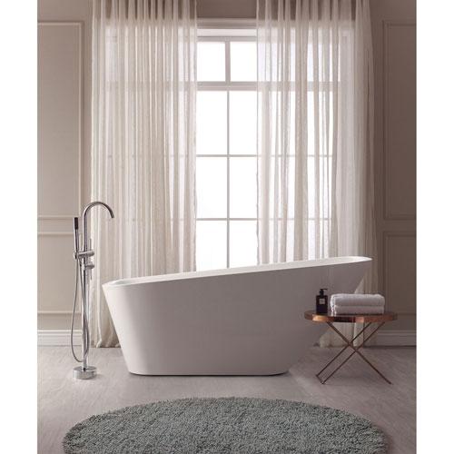 Nicollet White Acrylic Rectangular Bathtub