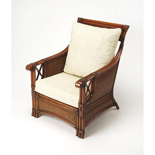Hayden Chestnut Rattan Club Chair