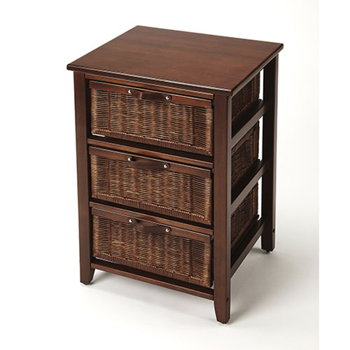 Afton Brown Rattan Chest