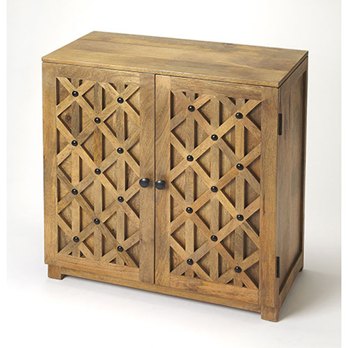 251 First Evelyn Rattan Console Cabinet