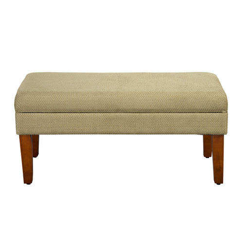 Selby Tan Storage Bench