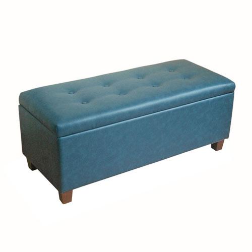 Loring Teal Large Storage Bench