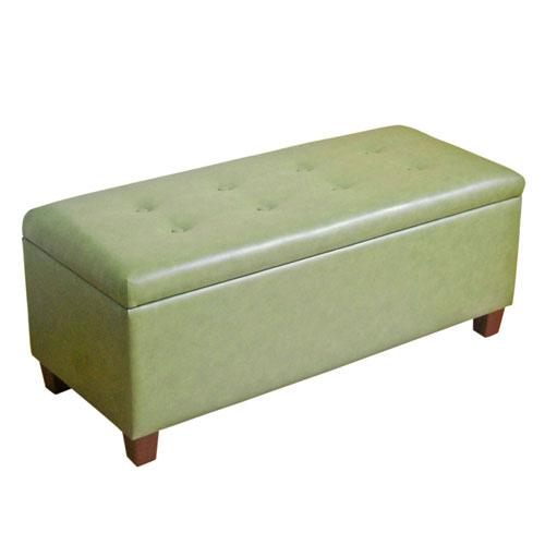 Loring Green Large Storage Bench