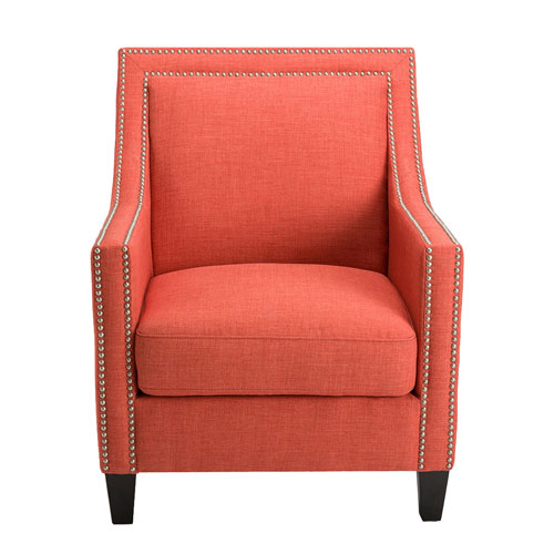 251 First Linden Coral and Birch Arm Chair