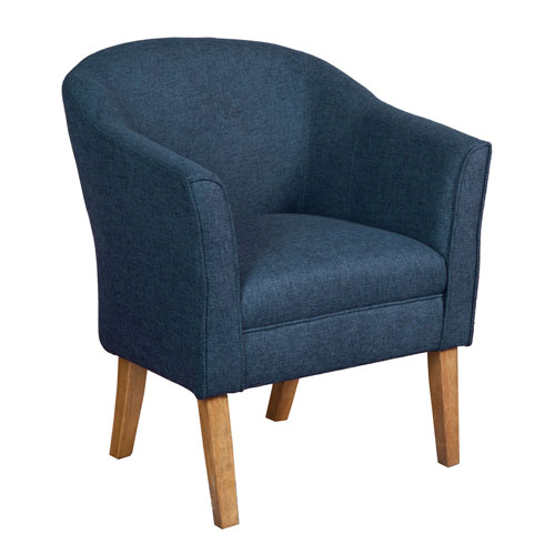 Nicollet Navy and Driftwood Accent Chair