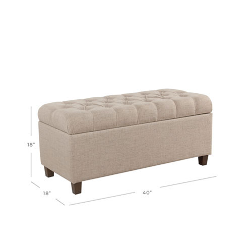 Grace Tan Storage Bench