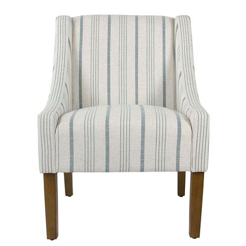 Grace Blue and Honey Oak Accent Chair