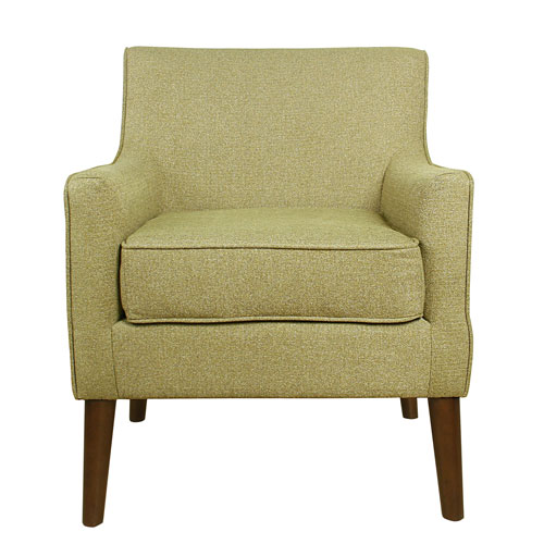 Nicollet Green and Walnut Accent Chair