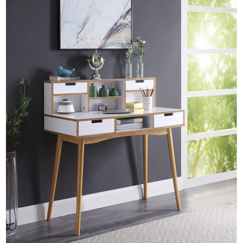 Uptown Computer Desk with Hutch