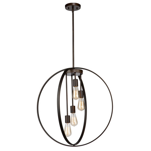 251 First Nicollet Oil Rubbed Bronze Four-Light Chandelier