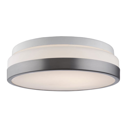 251 First Nicollet Brushed Nickel 11-Inch One-Light LED Flush Mount