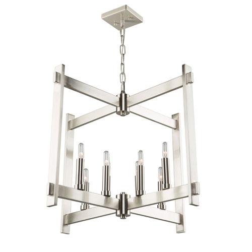 Uptown Polished Nickel Eight-Light Pendant