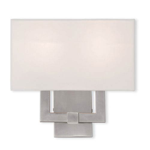 Kate Brushed Nickel 13-Inch Two-Light ADA Bath Sconce
