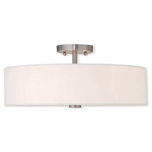 Kate Brushed Nickel 18-Inch Four-Light Semi Flush Mount
