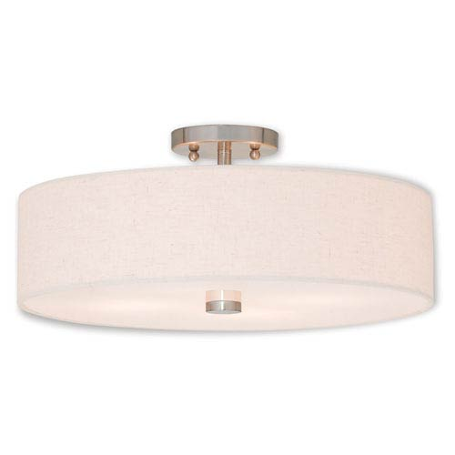Kate Brushed Nickel Four-Light 18-Inch Ceiling Mount