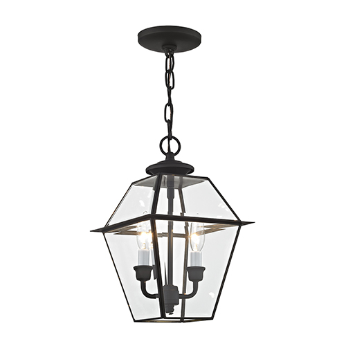 Lyndale Black Two-Light Outdoor Pendant