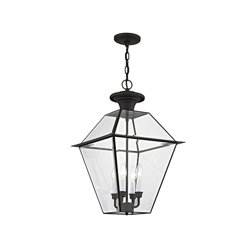 Lyndale Black Four-Light Outdoor Chain Hang