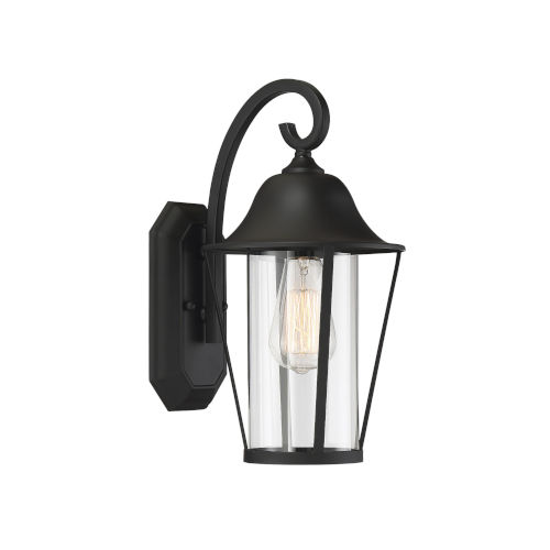 Lincoln Matte Black One-Light Outdoor Wall Sconce