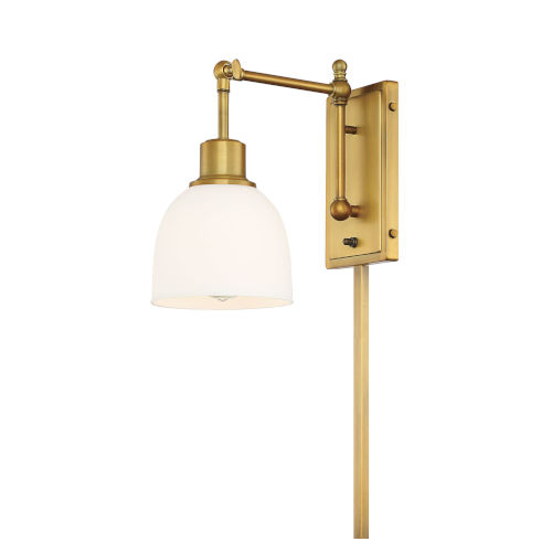 George Natural Brass One-Light Wall Sconce