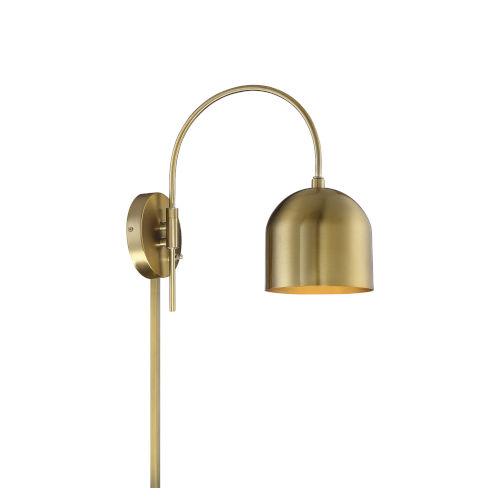 Artemis Natural Brass One-Light Adjustable Wall Sconce