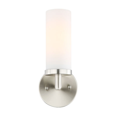 Loring Satin Nickel Three-Inch One-Light Wall Sconce
