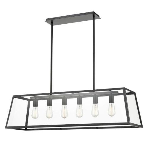 Fulton Black 12-Inch Six-Light Chandelier