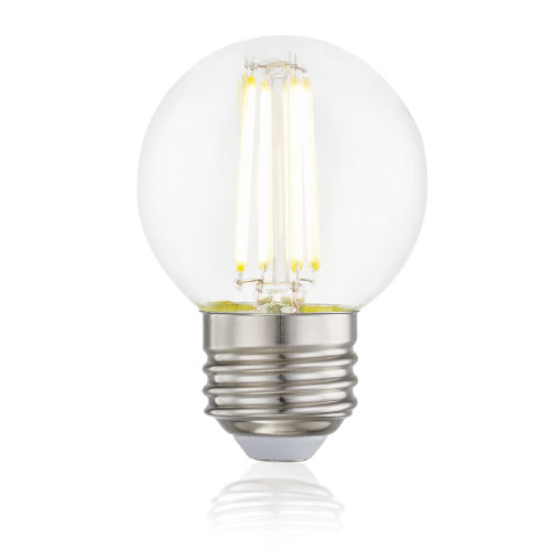 Transparent Two-Inch LED Filament Light Bulb, Set of 6