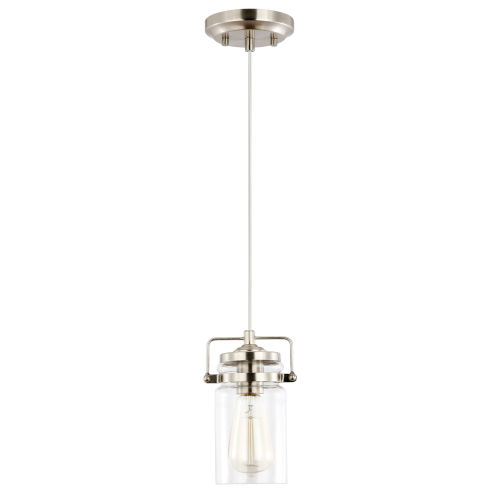 Fulton Satin Nickel Four-Inch One-Light Mini Pendant