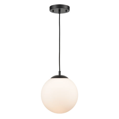 Nicollet Black and White 10-Inch One-Light Pendant