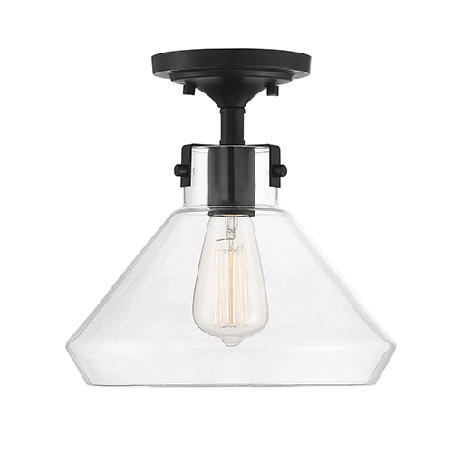 Isles English Bronze One-Light Semi-Flush