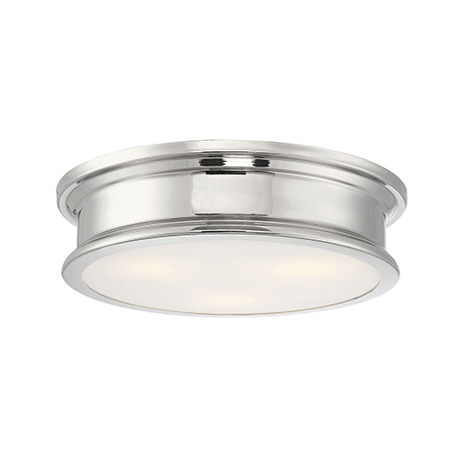 Anita Polished Nickel Three-Light Flush Mount
