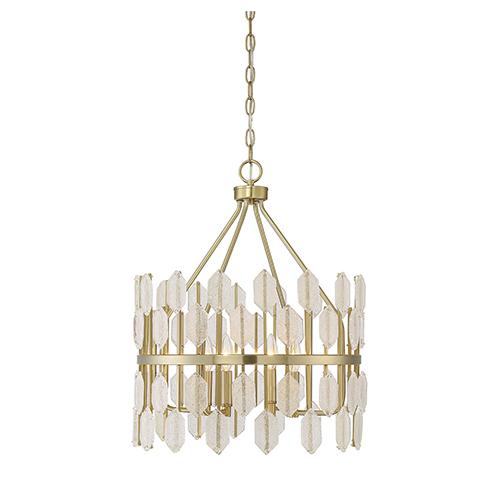 Diana Noble Brass Four-Light Pendant
