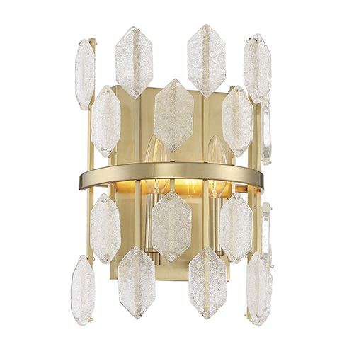 Diana Noble Brass Two-Light Wall Sconce