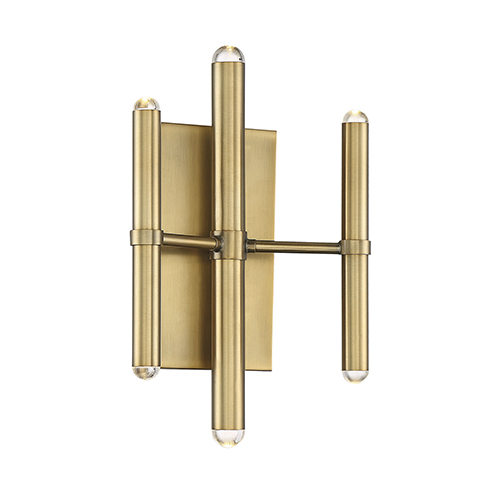 Pax Warm Brass Six-Light LED Wall Sconce